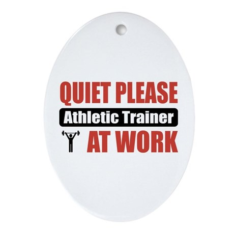 Athletic Trainer Work Oval Ornament