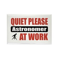 Astronomer Work Rectangle Magnet