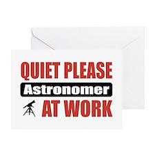 Astronomer Work Greeting Card