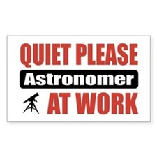 Astronomer Work Rectangle Decal