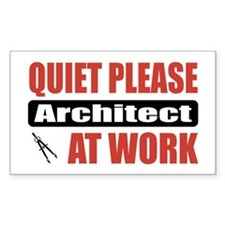 Architect Work Rectangle Decal