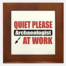 Archaeologist Work Framed Tile