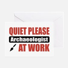 Archaeologist Work Greeting Card