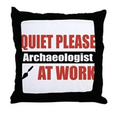 Archaeologist Work Throw Pillow
