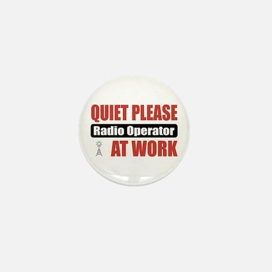 Radio Operator Work Mini Button