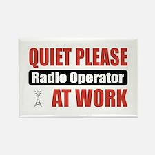 Radio Operator Work Rectangle Magnet