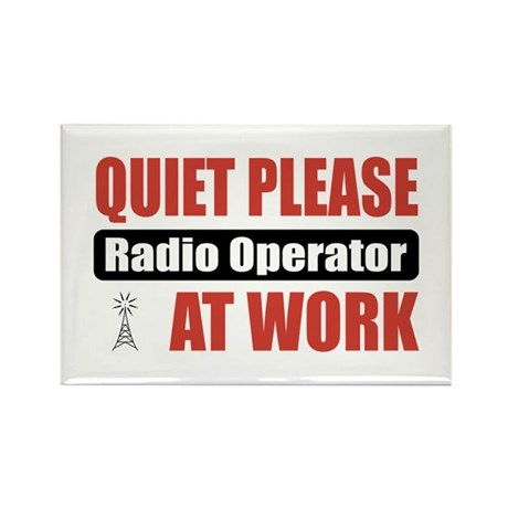Radio Operator Work Rectangle Magnet (100 pack)
