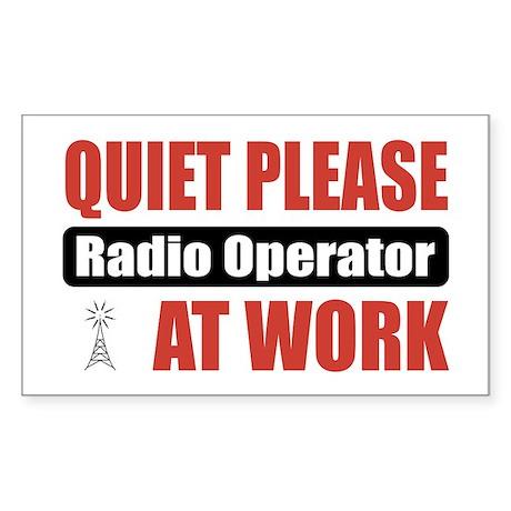 Radio Operator Work Rectangle Sticker