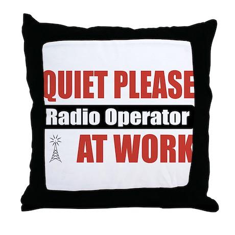 Radio Operator Work Throw Pillow