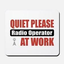 Radio Operator Work Mousepad