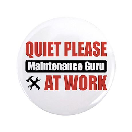 "Maintenance Guru Work 3.5"" Button (100 pack)"