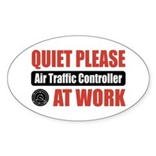 Air Traffic Controller Work Oval Decal