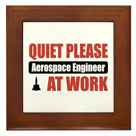 Aerospace Engineer Work Framed Tile