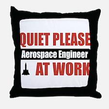Aerospace Engineer Work Throw Pillow
