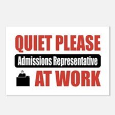 Admissions Representative Work Postcards (Package