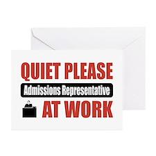 Admissions Representative Work Greeting Cards (Pk