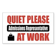 Admissions Representative Work Rectangle Decal