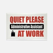 Administrative Assistant Work Rectangle Magnet (10