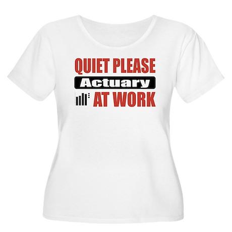Actuary Work Women's Plus Size Scoop Neck T-Shirt