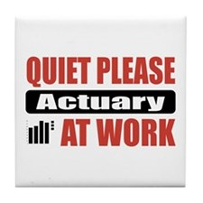 Actuary Work Tile Coaster