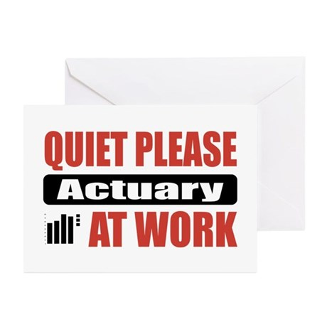 Actuary Work Greeting Cards (Pk of 10)
