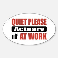 Actuary Work Oval Decal