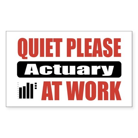 Actuary Work Rectangle Sticker