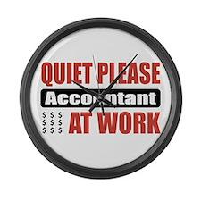 Accountant Work Large Wall Clock
