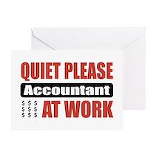 Accountant Work Greeting Card