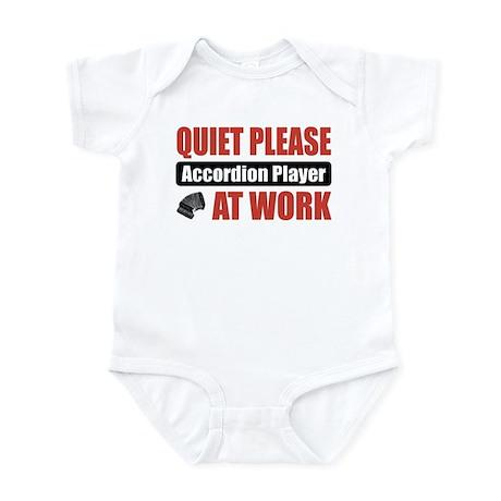 Accordion Player Work Infant Bodysuit