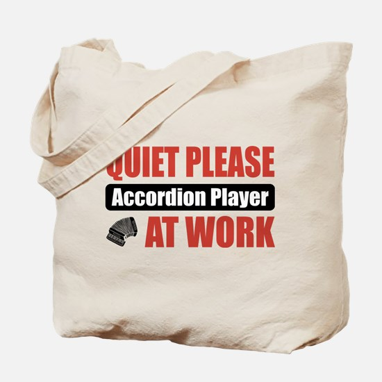 Accordion Player Work Tote Bag