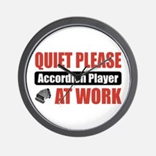 Accordion Player Work Wall Clock