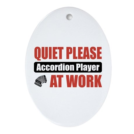 Accordion Player Work Oval Ornament