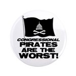 "Congressional Pirates 3.5"" Button"