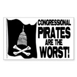 Congressional Pirates Rectangle Sticker 10 pk)