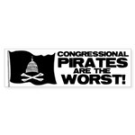Congressional Pirates Bumper Sticker (10 pk)