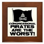 Congressional Pirates Framed Tile