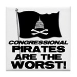 Congressional Pirates Tile Coaster