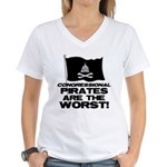Congressional Pirates Women's V-Neck T-Shirt