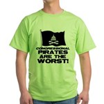 Congressional Pirates Green T-Shirt