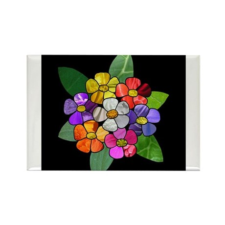 Flowerdecoration Rectangle Magnet