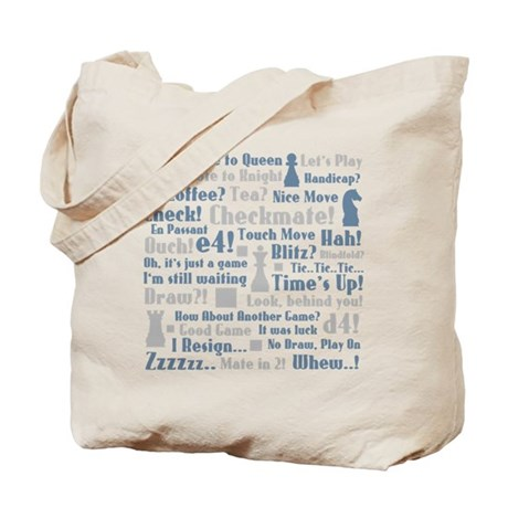 Chess Expressions Tote Bag