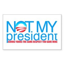 Not My President Rectangle Decal