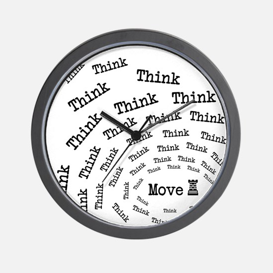 Chess Think & Move Wall Clock