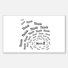 Chess Think & Move Rectangle Decal