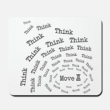 Chess Think & Move Mousepad