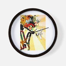 Cute Hendrix Wall Clock