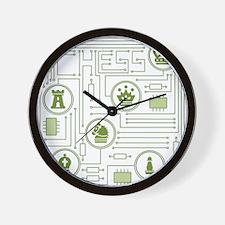 Chess Circuit Wall Clock