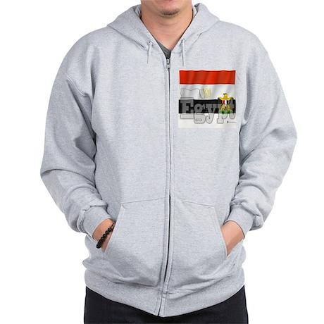 Silky Flag of Egypt Zip Hoodie