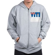 Word Art Flag of Viti (Fiji) Zip Hoodie